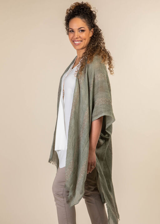 Into the Weave Kimono, Sage, original