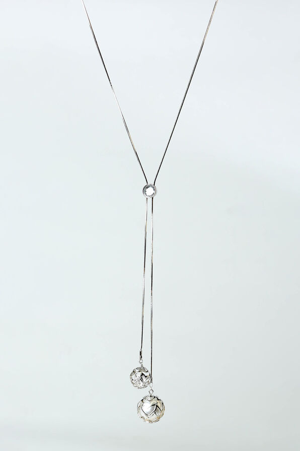 Shining Spheres Necklace, Silver, original image number 0