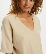 Cream Sillar Knit Pullover Sweater, Beige, original image number 2