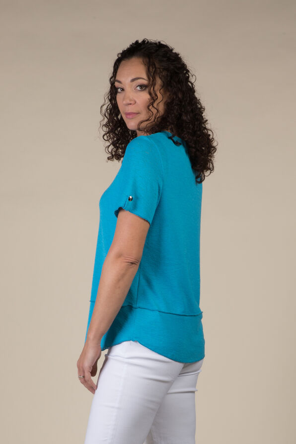 Simply Studded T Shirt, Turquoise, original image number 1