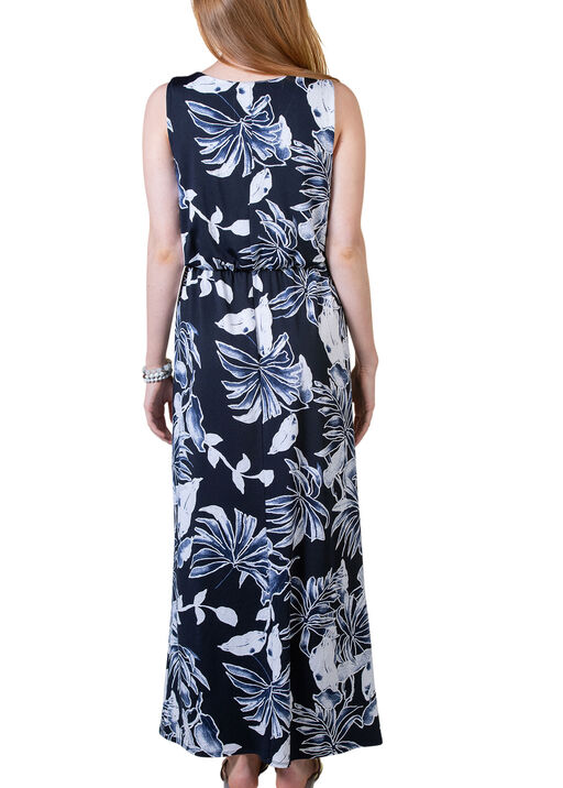 Sleeveless Maxi Dress with Keyhole Neckline, Navy, original
