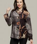 Leaf Print Jacket, Orange, original image number 2