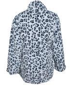 Faux Fur Animal Print Coat, Multi, original image number 1