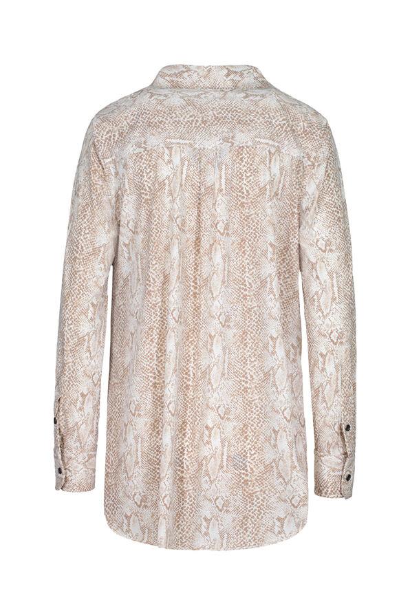 Printed Wrinkle Resistant Shirt, Natural, original image number 1