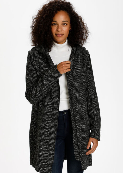 Stone Herringbone Coat, Grey, original