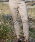 Pull-On Crop Stretch Pant, Beige, original image number 0