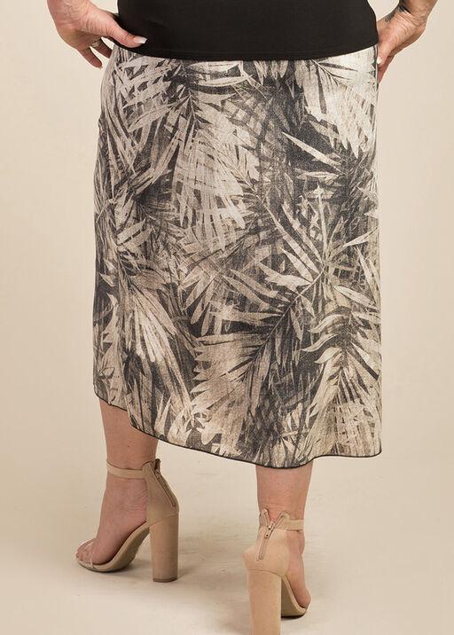 Wanda Faux Wrap Skirt, Taupe, original