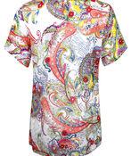 Paisley Print Short Sleeve Top, Multi, original image number 1