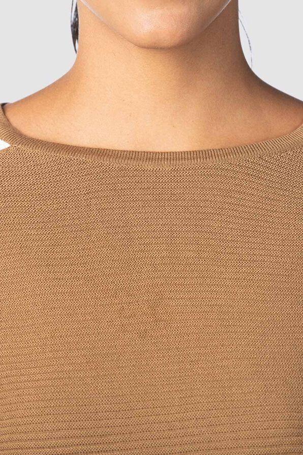 Vosh Colorblock Sweater, Tan, original image number 3
