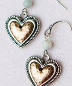 Heart Bead Earrings, Multi, original image number 1