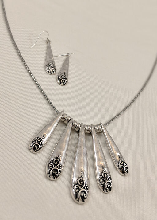 Statement Necklace and Earrings, , original