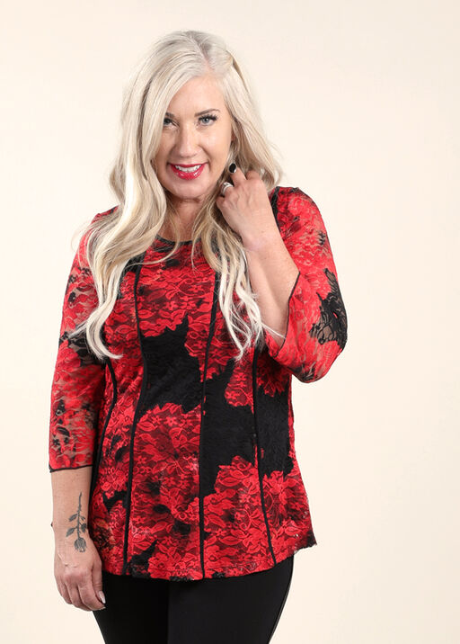 Luscious Lace Top, Red, original