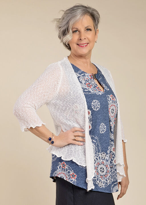 Knot Without You Cardigan, White, original