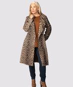 Animal Suede Coat , Brown, original image number 0