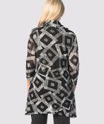 Geometric Cowl Top, Black, original image number 1