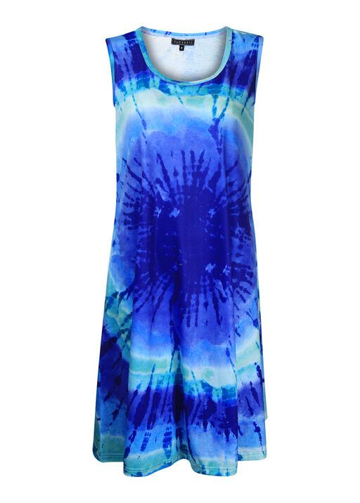 Sleeveless Tie Dye Dress, Indigo, original