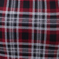 Plaid Knit Tunic , Red, swatch