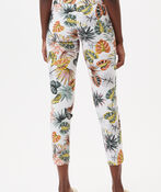 UP! Tummy Control Printed Ankle Pant, White, original image number 3