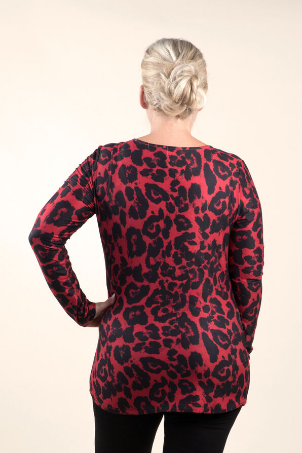 Top with Long Sleeves and Scoop neck, Red, original image number 1