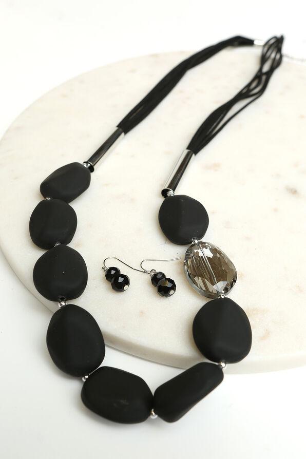 Make a Statement Necklace Set , Silver, original image number 1