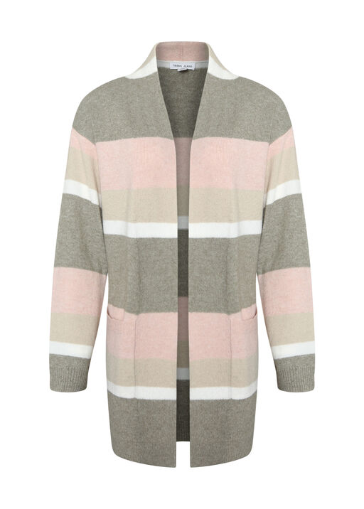 Marleigh Long Striped Cardigan, , original