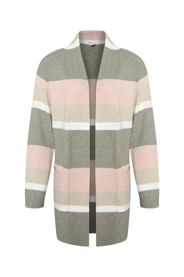 Marleigh Long Striped Cardigan, , original image number 1
