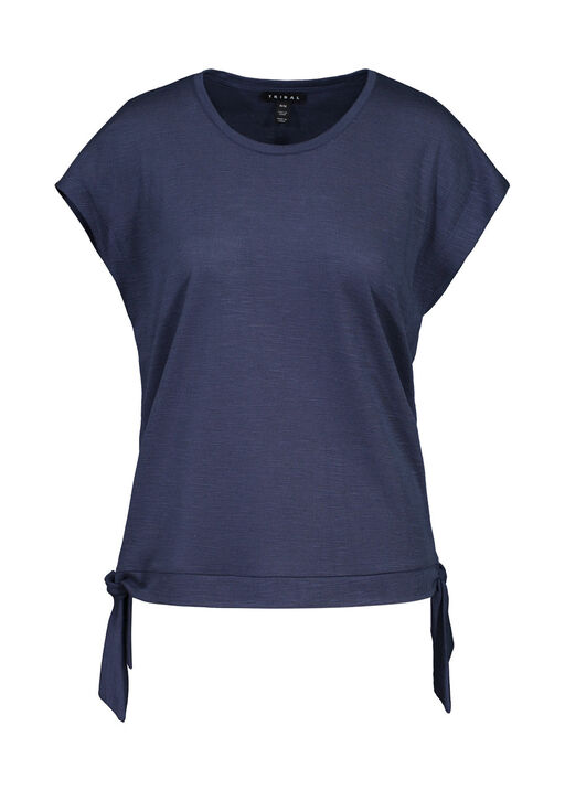 Cap Sleeve T-Shirt with Side Ties, , original