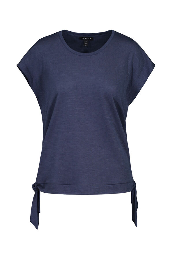 Cap Sleeve T-Shirt with Side Ties, , original image number 1