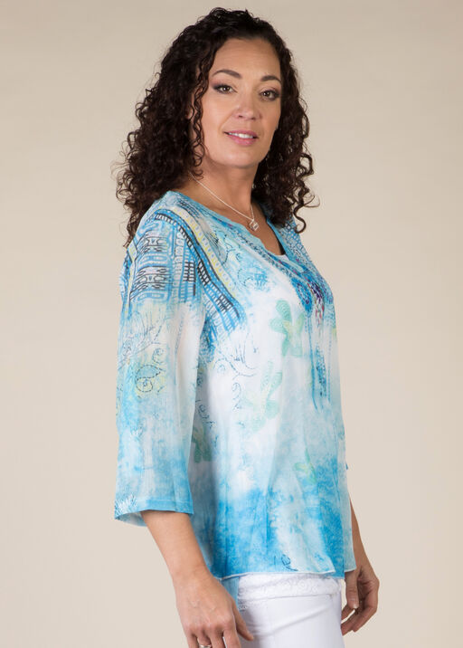 Cassia Blouse, Turquoise, original
