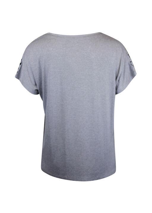 Owl Graphic T-Shirt with Hotfix Gems, White, original