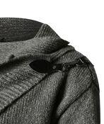 Buckle Wrap Sweater, Grey, original image number 2