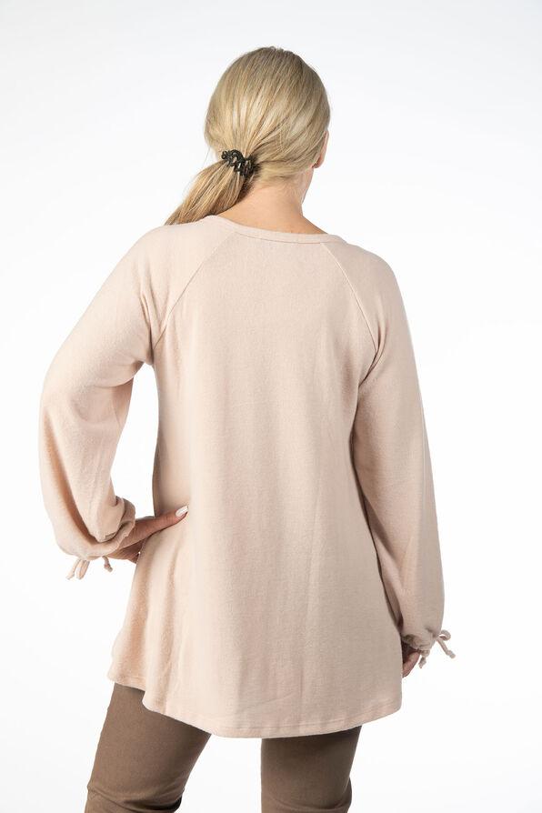 Peasant Tunic Sweater, Pink, original image number 2