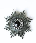 Large Starburst Brooch , Black, original image number 1