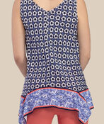 Ensley Sleeveless Top, Navy, original image number 1
