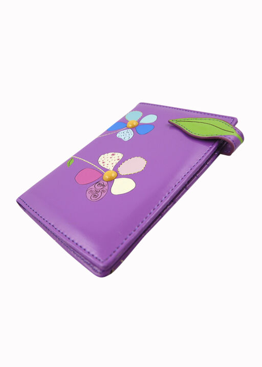 Purple Patchwork Passport Holder, , original