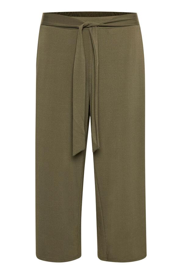 Kaffe Malli Pants Wide Leg Crop, Green, original image number 0