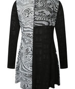 Judy Patch Print Tunic, Black, original image number 1