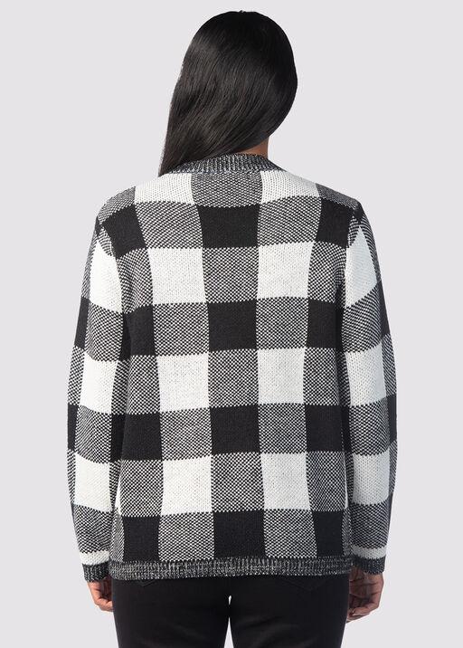 Checkered Crew Top, Black, original