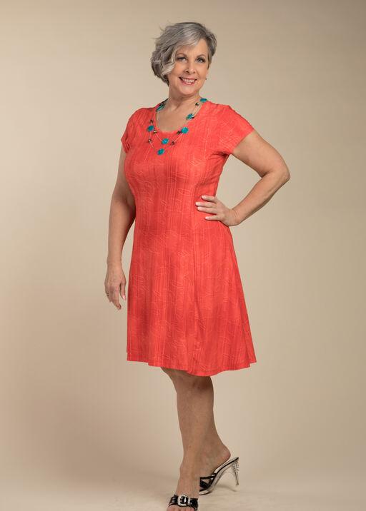 Adeline Shift Dress, Coral, original