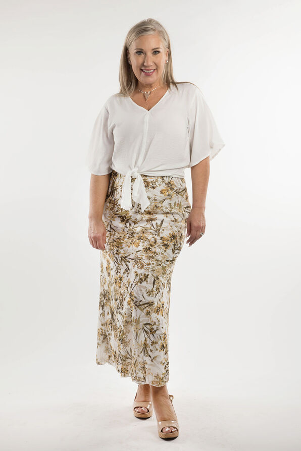Long and Leafy Skirt, Cream, original image number 0