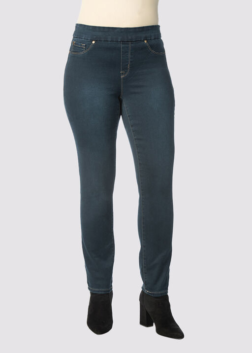 Tribal Audrey Pull-On Ankle Jean, Navy, original