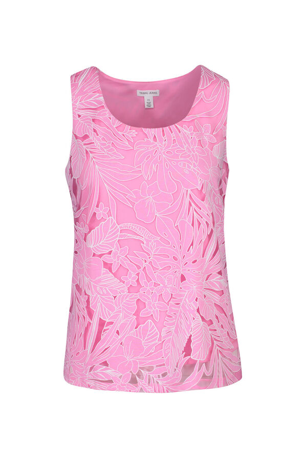 Tropical Burnout Sleeveless Top, , original image number 0