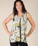 Karen Sleeveless Blouse, Olive, original image number 0