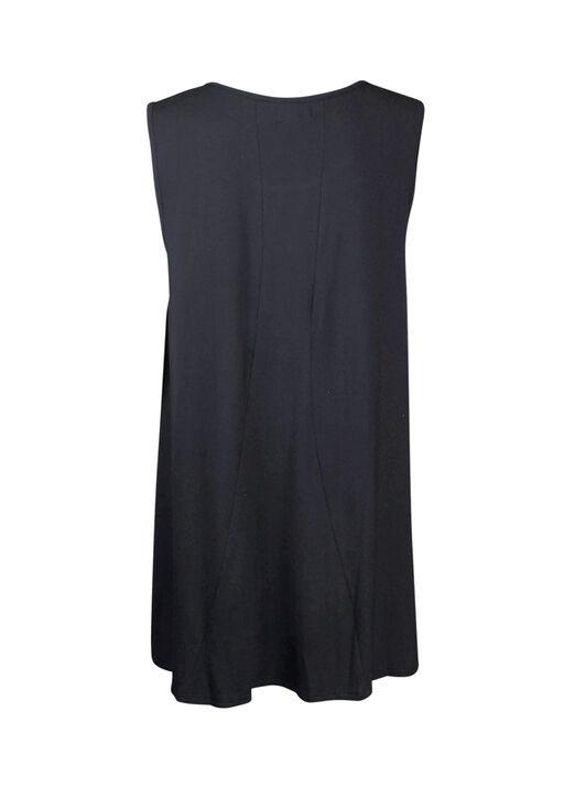 Bamboo Sleeveless Tunic with Lace , Black, original
