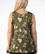 SLEEVELESS TOP WITH LACE DETAIL, Green, original image number 2
