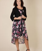 Arielle Hi-Lo Dress, Black, original image number 3