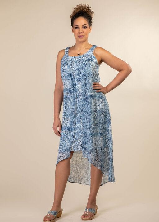 Athena Layered Dress, Denim, original