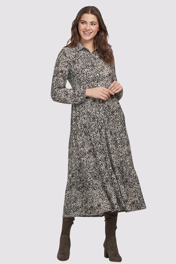 Janina Tiered Dress, Black, original image number 0