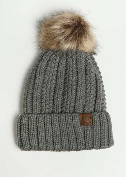 Pom Toque, Grey, original