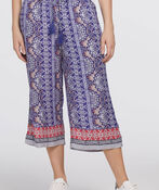 Tribal Tassel Wide-Leg Capri, Blue, original image number 0